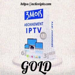 Abonnement Gold Iptv – 3 Mois
